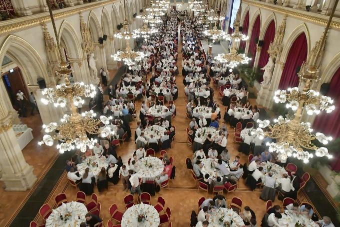 Town hall banquet room
